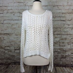 Lucky Brand Loose Open Knit Summer Sweater